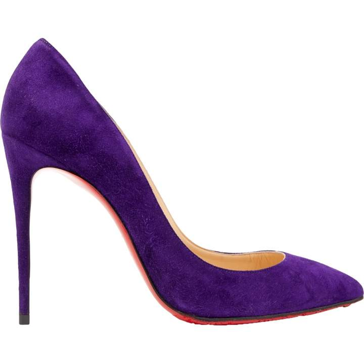 check out ffe06 4ac1b Purple Suede Heels