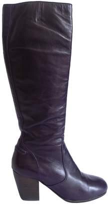 Dries Van Noten Purple Leather Boots