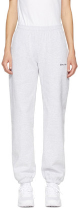 Sporty and Rich Grey Classic Logo Lounge Pants