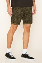 Forever 21 FOREVER 21+ Leopard Print Cotton Shorts