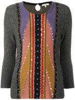 Etro three-quarters flared sleeve jumper - women - Cotton/Nylon/Polyester/plastic - 42