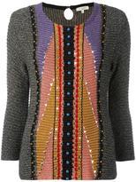 Etro three-quarters flared sleeve jumper - women - Viscose/Polyester/Cotton/plastic - 42