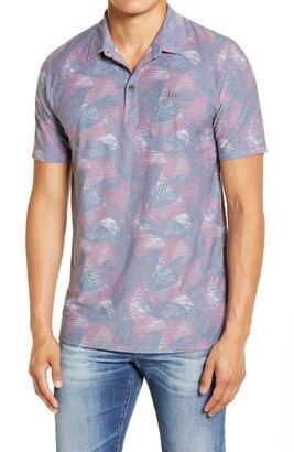 Travis Mathew Saucey Regular Fit Tropical Short Sleeve Button-Up Shirt
