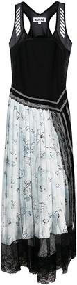 Koché Patch-Work Pleated Dress