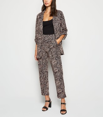 New Look Animal Print Scuba Crepe Trousers