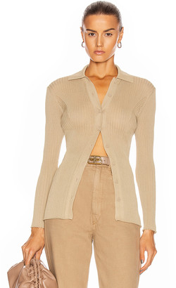 Alberta Ferretti Long Sleeve Top in Light Brown | FWRD
