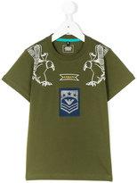 Armani Junior eagle shoulder t-shirt - kids - Cotton - 4 yrs