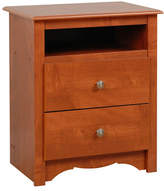 Prepac Monterey Two-Drawer Tall Nightstand with Open Shelf