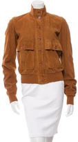 Dolce & Gabbana Suede Rib Knit-Trimmed Jacket