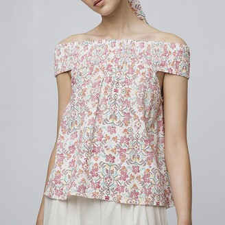 Off-The-Shoulder Blouse in Floral Print