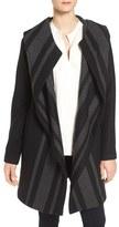 Vince Camuto Women's Stripe Wrap Hooded Coat