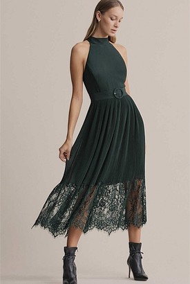 Witchery Lace Pleat Dress