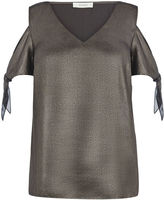 Oasis Metallic Tie Shoulder Top