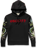 Gucci Embroidered Appliquéd Loopback Cotton-Jersey Hoodie