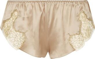 Gilda and Pearl Satin Lace Shorts