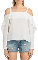 AllSaints Khan Cold-Shoulder Top