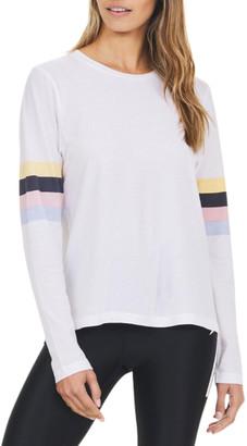 The Upside Emma Striped-Sleeve Top