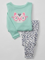 Gap Kitten & glasses sleep set