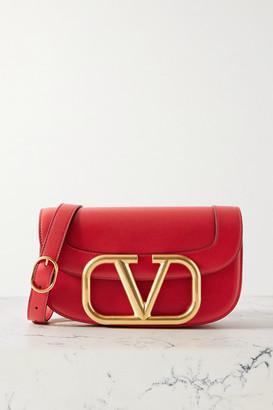 Valentino Garavani Supervee Leather Shoulder Bag - Red