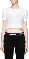 Ivy Park Racerback cutout cropped T-shirt