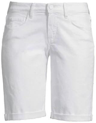 Paige Jax Roll Cuff Denim Bermuda Shorts