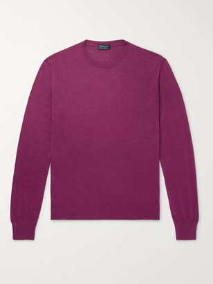 Charvet Slim-Fit Cashmere and Silk-Blend Sweater - Men - Purple