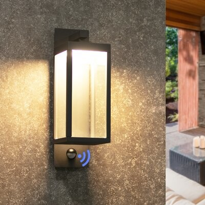 Latitude Run Algarin 2 Light Led Outdoor Armed Sconce Finish White Shopstyle
