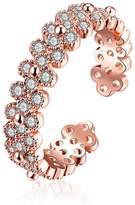 K-DESIGN : Jewellery Shining Gold Plated Rings Simple AAA Cubic Zircon Open Rings For Women
