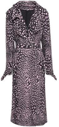 McQ Leopard-print Crepe Trench Coat