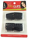 Magic 12pc Wig Clips Snap-Comb #052 (Large, Black)