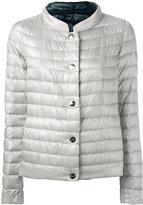 Herno collarless puffer jacket - women - Feather Down/Polyamide - 38