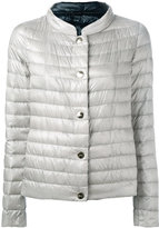 Herno collarless puffer jacket