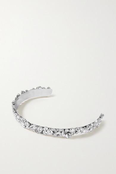 LELET NY Kate Rhodium-plated Crystal Headband - Silver