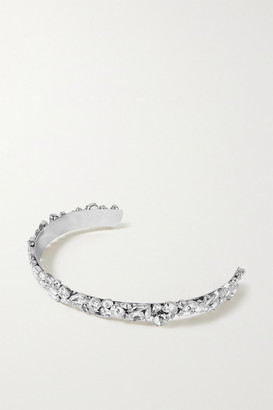 LELET NY Kate Rhodium-plated Crystal Headband - Silver