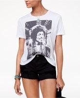 Doe Mighty Fine Juniors' Jimi Hendrix Boyfriend Graphic T-Shirt