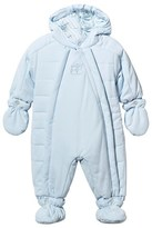 Emile et Rose Pale Blue Microfibre Snowsuit with Detachable Mittens and Booties