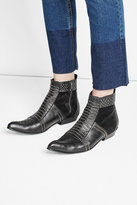 Anine Bing Embellished Leather Ankle Boots
