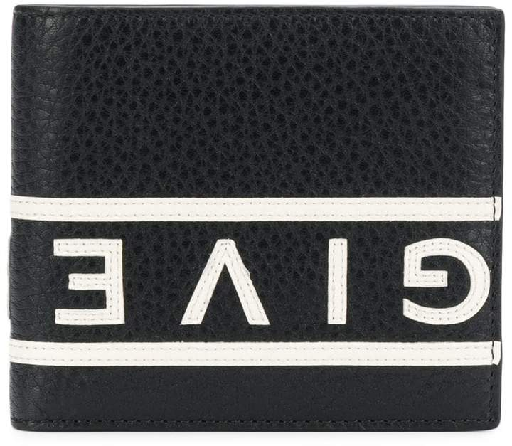 Givenchy mirrored logo trim wallet