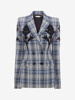 Alexander McQueen Embroidered Celtic Check Jacket