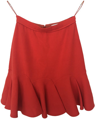 Carven Red Viscose Skirts