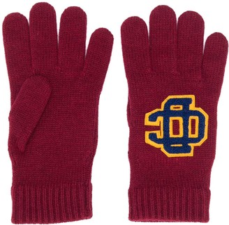 DSQUARED2 Logo Patch Wool Gloves