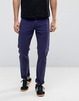 Asos Stretch Slim Jeans In Navy