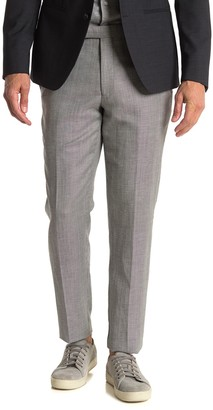 Reiss Dagger Micro Houndstooth Linen Blend Suit Separates Dress Pants