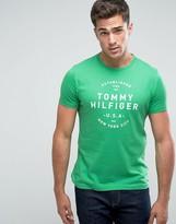 Tommy Hilfiger Tom T-Shirt Logo Print Regular Fit In Green