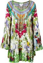 Camilla printed long sleeve dress - women - Silk - S
