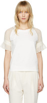 See by Chloe Off-white Lace Sleeve T-shirt