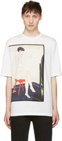 3.1 Phillip Lim White Woman on Stool T-Shirt