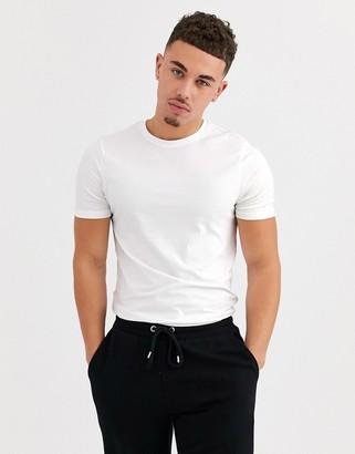 ONLY & SONS muscle fit t-shirt in white