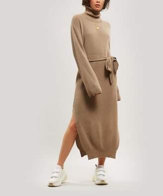 Nanushka Canaan Merino Wool-Blend Belted Dress