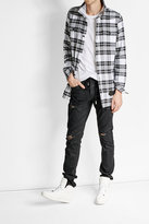 Off-White Off White Waxed Distressed Jeans